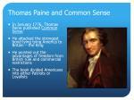 thomas paine and common sense