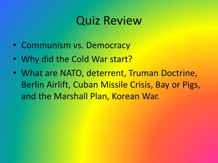 why did the cold war start essay The cold war really did not start with any one event it was sort of a natural consequence of the russian revolution of 1917 and world war ii.