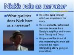 nick s role as narrator2