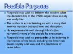 possible purposes3
