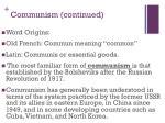 communism continued