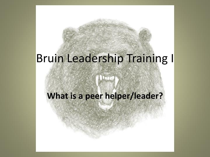 bruin leadership training i n.