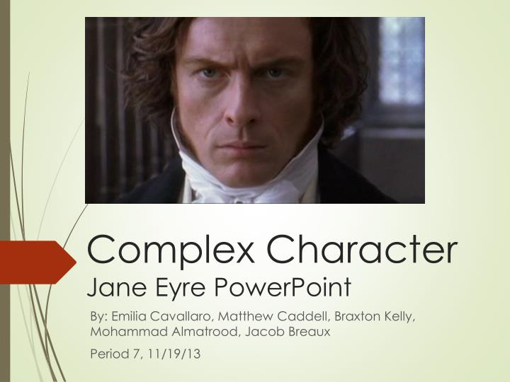 complex character jane eyre powerpoint n.