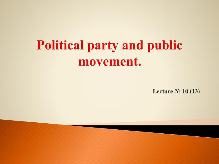 political party and public movement n.