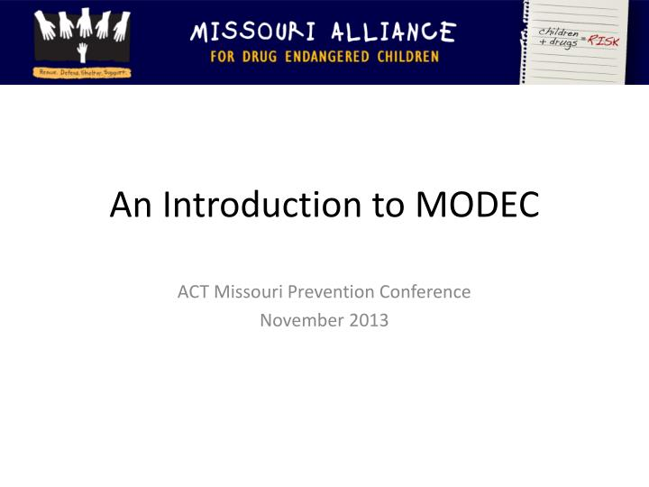 an introduction to modec n.