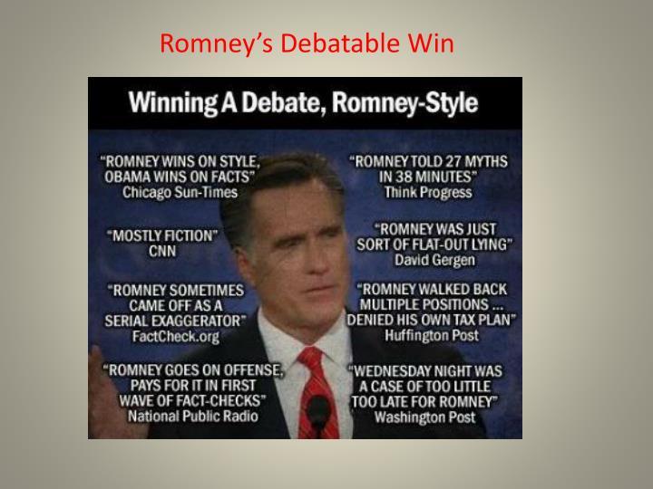 Romney's Debatable Win