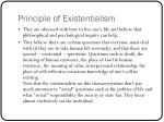 principle of existentialism