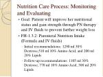 nutrition care process monitoring and evaluating