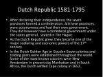 dutch republic 1581 1795