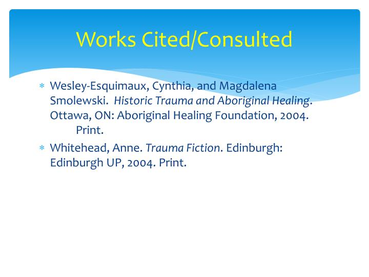 Works Cited/Consulted