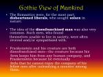 gothic view of mankind