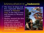 literary allusion in frankenstein