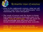 romantic view of science