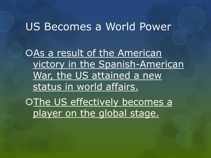 US Becomes a World Power