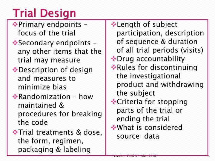 Trial Design