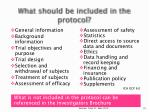 what should be included in the protocol