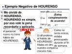 ejemplo negativo de hourenso6