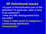 ar definitional issues1