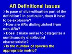 ar definitional issues2