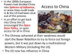 access to china