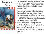 trouble in cuba