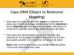 capa orm object to relational mapping