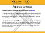rbol de switches