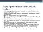 applying new historicism cultural studies