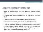 applying reader response