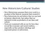 new historicism cultural studies