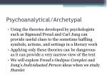 psychoanalytical archetypal