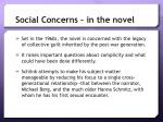 social concerns in the novel