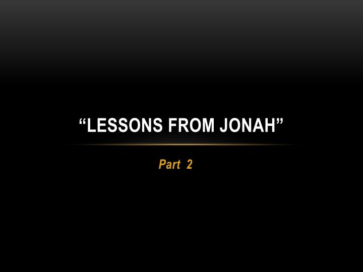 lessons from jonah n.