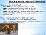 amazing family legacy of obedience