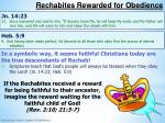 rechabites rewarded for obedience1
