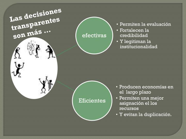 Las decisiones transparentes  son más …