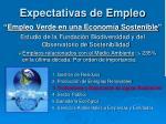 expectativas de empleo