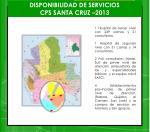 disponibilidad de servicios cps santa cruz 2013