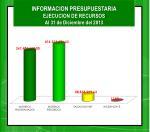 informacion presupuestaria ejecucion de recursos al 31 de diciembre del 20131