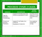 procesos civiles 2 casos