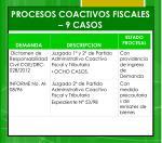 procesos coactivos fiscales 9 casos