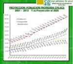 proyeccion poblacion protegida cps scz 2001 2013 y su proyecci n al 2025