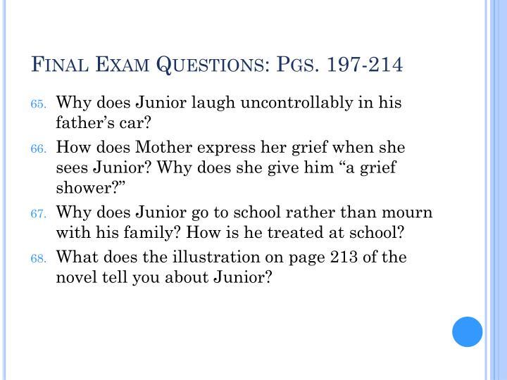 Final Exam Questions: Pgs. 197-214