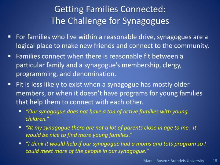 Getting Families Connected: