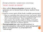 sympathetic nervous system fight flight or fright