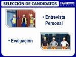 selecci n de candidatos