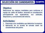 selecci n de candidatos1