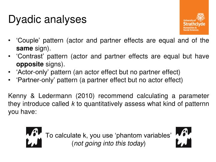 'Couple' pattern (actor and partner effects are equal and of the