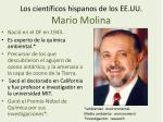 los cient ficos hispanos de los ee uu mario molina