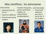 m s cient ficos los astronautas